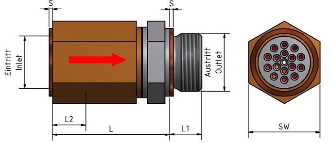 Pulsationsdämpfer - Größen, Maße, Gewichte